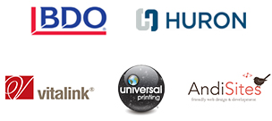 2018 LEAD Conference sponsors include HURON, BDO, vitalink, AndiSites & Universal Printing